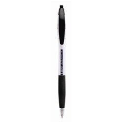 Atlantis Retractable Ball Pen Black [Pack 12]